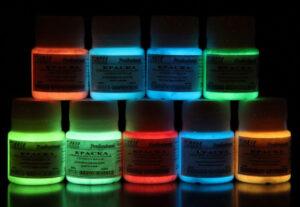 """Набор люминесцентных красок """"Vesta Professional"""" 9 цветов по 25 мл"""
